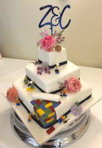 lego cake myohmy weddings